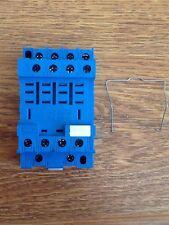 FINDER  96.74SMA  Relay Socket, DIN Rail, Panel, Screw, 14 Pins.
