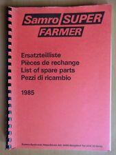 Ersatzteilliste Samro Super Farmer Kartoffel-Vollernter Ausgabe 1985 parts list