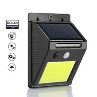 COB LED Solar Powered PIR Motion Sensor Light Outdoor Garden Security Wall Light