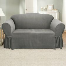 Sure Fit Soft Suede Sofa Slipcover Gray