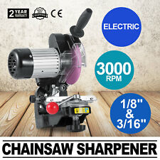 "230W Chainsaw Sharpener Grinder w/ Grinding Wheels Electric 1/8""&3/16"" 110V"