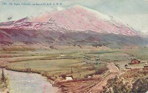 COLORADO CO - Mt. Sopris On Line of D. & R. G. R. R. - 1908