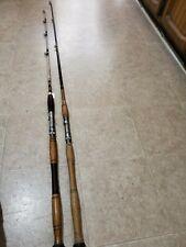 Lot of 2 Saltwater Rods True Temper Custom Built 95-20 5.5' Wooden Handle