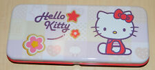 """TROUSSE METAL """"HELLO KITTY"""" 20 x 8 x 3  FEUTRES CRAYONS PLUMIER SCOLAIRE NEUF"""