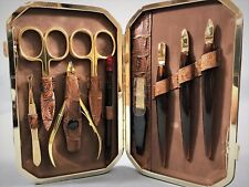9 Pieces Very High Quality Manicure Set Gold