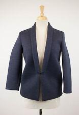 NWT BRUNELLO CUCINELLI Woman's Blue Wool Blend Blazer Jacket Size 40/4 $3125