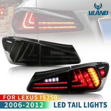 Smoke Black LED Light Bar Tail Lights For 2005-2013 Lexus IS250/350 ISF Taillamp