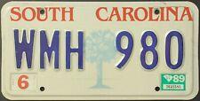 Original Nummernschild License Plate USA South Carolina 1989 PALM Plaque Targa
