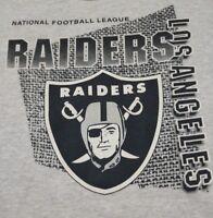 Vintage 90s L.A  Raiders Big Logo Crewneck Sweatshirt  Sz Large Fits like Medium