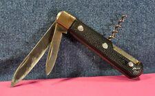 """""""RECK""""   VINTAGE  BLACK  TWO BLADES  FOLDING KNIFE c.1960's"""