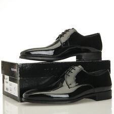Magnanni Dante Black Patent Leather Tuxedo Derby Oxfords - Men's 11 W