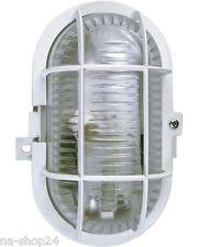 Ovalleuchte EEK A++ IP44 weiß Wandleuchte Deckenleuchte Kellerlampe Lampe Licht