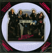 Scorpions- Shaped Pic Disc- Passion Rules The Game- 1986 Harvest HARP 5242-MINT