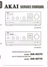 AKAI AM-M570 AM-M770 Verstärker  Manual Schaltplan ORIGINAL und aufwändig