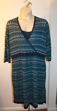 Lane Bryant Women's Blue Zig-Zag Striped Sweater Dress 22/24
