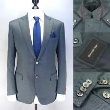 Ermenegildo Zegna Lux $3750 Emerald CASHMERE & SILK Two Button Blazer 54IT 44R