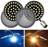 """Eagle Lights Black 2"""" Front LED Turn Signals w/ White DRL & Smoked Lenses Harley"""