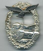 WWII Nazi Germany`s Soldiers Replacement 1957 Luftwaffe Tank Combat Badge