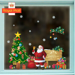 2022 Merry Christmas Tree Wall Window Stickers Decals XMAS Home Shop Decor UK