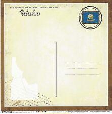Sc - Idaho Postcard Scrapbooking Paper - 1 sheet - Vintage 36180
