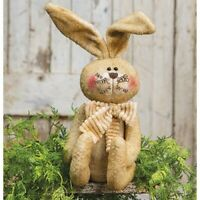 "farmhouse primitive country Easter decor stuffed sitting BUNNY rabbit 16.5"" doll"