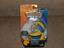 New Authentic TOMY Pokemon Machop + Quick Ball Figure Set Free Shipping 4+