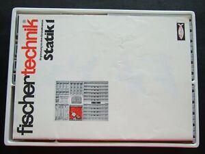 Vintage Collectible Fischertechnik Statik 1 set | STEM toy