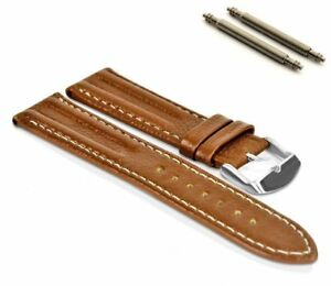Handmade leather watch strap 18mm 20mm 22mm 24mm Brown Blue Tan Black for Men