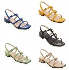 Women Slingbacks Buckle Strap Low Heel Summer Sandals Peep Toe Shoes 6 colors SZ