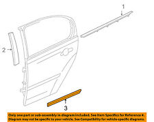 Pontiac GM OEM 05-10 G6 REAR DOOR-Body Side Molding Right 89024128