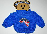 America Plush Toy Teddy Bear Knit Sweater Outfit fits 11-13 inch New MOC