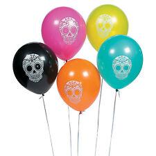 12 Halloween DAY OF THE DEAD Dia de Los Muertos Party Decorations Latex BALLOONS