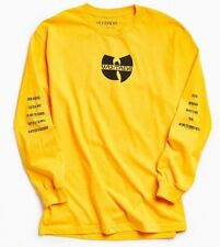 Wu-Tang Clan WU-TANG Long Sleeve T-Shirt Yellow NEW 100% Authentic & Official