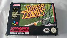 JUEGO COMPLETO SUPER TENNIS TENIS SUPER NINTENDO SNES PAL ITA.