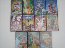 LOT 11 DVD DISNEY 5,84,16,66,19,67 BAMBI+PETER PAN+MULAN+101 DALMATIENS+TARZAN+2