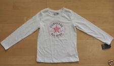 T-shirt blanc manches longues pour fille de 2 à 16 ans
