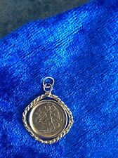 Fine Gold 1/20th Ounce Angel Isle Of Man 1987 Gold Coin Set Into A Pendant