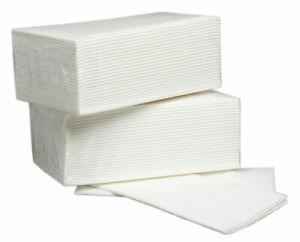 50 x Luxury White Airlaid Napkins Quality Linen Feel, Disposable 8 Fold 40cm