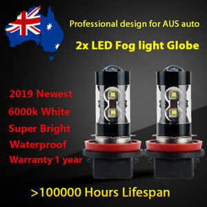 For Honda Insight 2002 2003 2004 Fog Light Globes 6000k White LED Bulb Projector