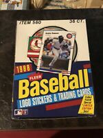 BRAND NEW SEALED - 1988 FLEER BASEBALL WAX BOX 36 PACKS