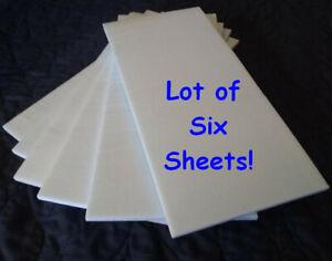"""XPS Foam Board-ONE QUARTER INCH THICK (1/4"""")-Lot of Six Sheets (EPS Foam Board)"""