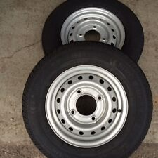 "2x 165R13C new trailer tyres Wheels 4 Stud 5.5"" PCD Ivor Wessex READ DESCRIPTION"