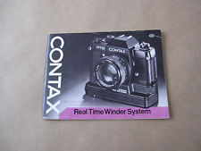 Vintage Contax Real Time Winder System Instruction Manual