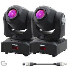 2x Equinox FUSION Foco MAX MKII 30w LED CLUB DJ DMX cabeza móvil Efecto Luz De
