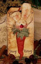 Primitive Bunny Rabbit Pin Ornie Folk Doll Patti's Ratties Paper Pattern #112