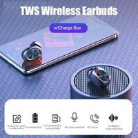 Tws Kabellos Kopfhörer Hifi Stereo Bluetooth Touch Kontrolle W / Charge Box