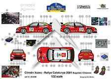 [FFSMC Productions] Decals 1/32 Citroën Xsara Rallye De Catalogne (Espagne) 2001