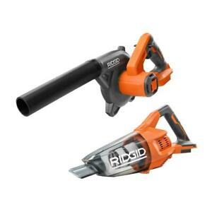 RIDGID Cordless Compact Jobsite Blower Hand Vacuum 18V 2 Tool Combo Tools Only