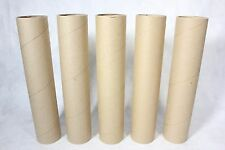 """Lot of 5 Thick Cardboard Craft Project Tubes 3-1/4"""" x 16"""" Mortar / Fireworks!"""