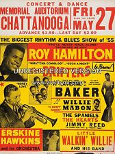 """Roy Hamilton / Drifters Chattanooga 16"""" x 12"""" Photo Repro Concert Poster"""